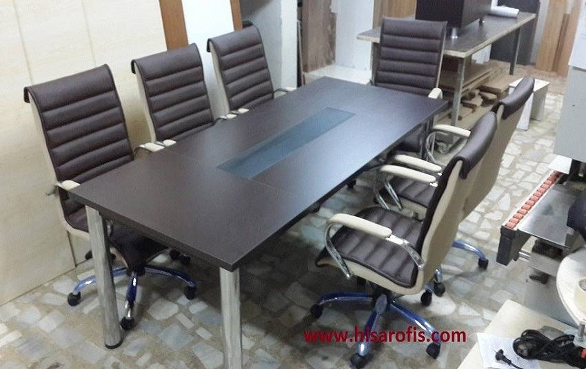 toplantı masası 3 metal ayaklı