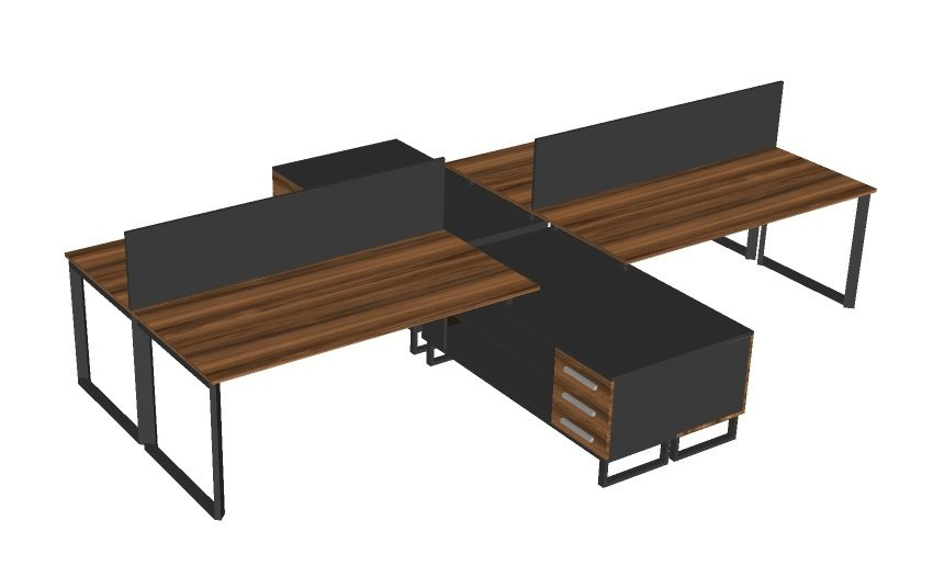 demo dörtlü çalışma masası