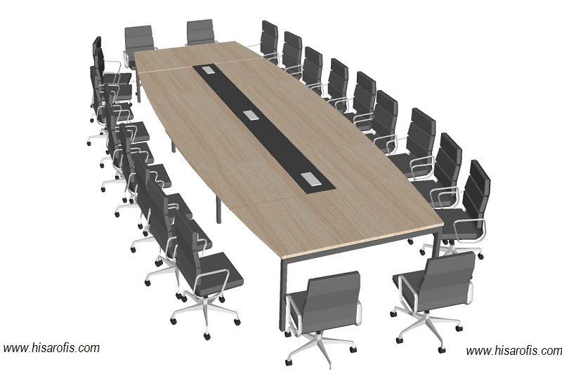 mix oval toplantı masası